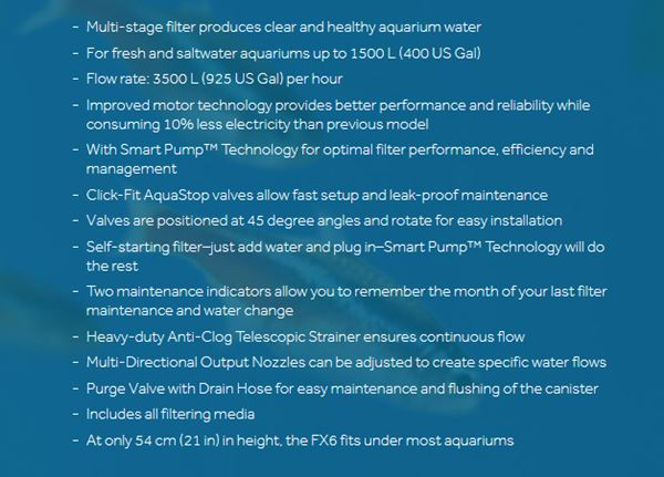 Fluval FX6 main features