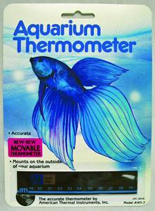horizontal fish tank thermometer