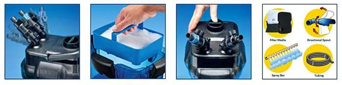 penn plax cascade 1000 canister filter features